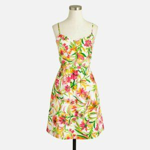 NWT J. CREW Womens Seaside Cami Dress Floral 14
